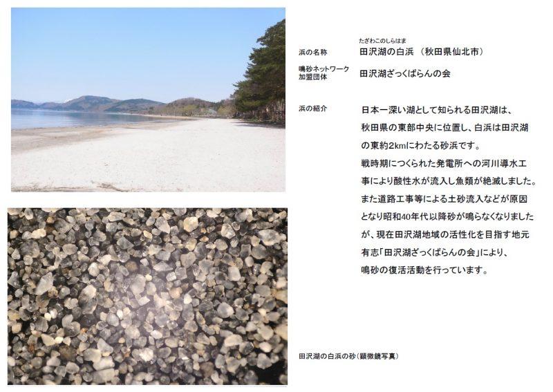 3.田沢湖の白浜